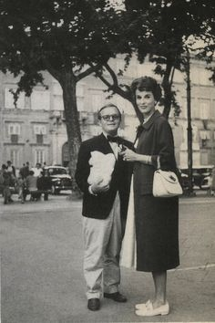 Babe Paley with Truman Capote